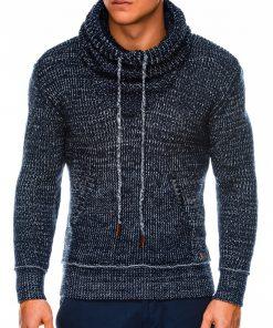 Tamsiai mėlynas vyriškas megztinis internetu pigiau E152 14168-5