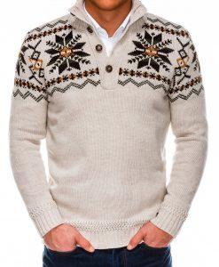 Rusvas vyriškas megztinis internetu pigiau E154 14170-1