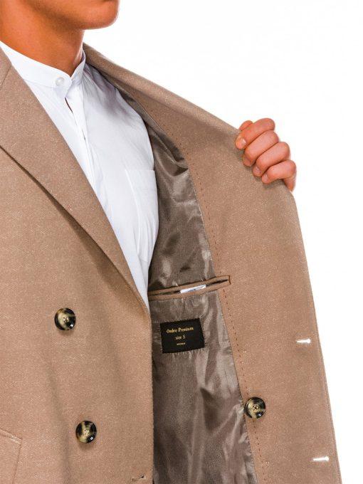 Rusvas paltas vyrams internetu pigiau C429 14173-4