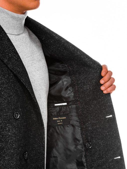Juodas paltas vyrams internetu pigiau C429 14174-7