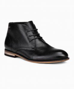 Juodi paaukštinti rudeniniai batai vyrams internetu pigiau T319 14179-1