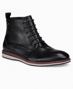 Juodi paaukštinti laisvalaikio batai vyrams internetu pigiau T320 14180-3