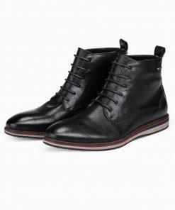 Juodi paaukstinti vyriski laisvalaikio batai internetu pigiau T320 14180-7