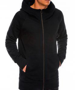 Juodas vyriškas džemperis su gobtuvu internetu pigiau B1017 14188-3