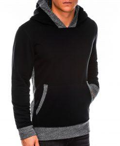 Juodas vyriškas džemperis su gobtuvu internetu pigiau B1016 14190-3