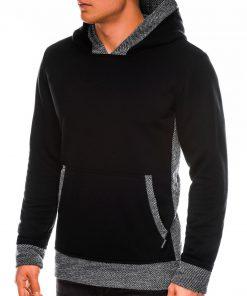 Juodas džemperis vyrams su gobtuvu internetu pigiau B1016 14190-4