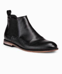 Juodi paaukštinti rudeniniai batai vyrams internetu pigiau T321 14195-2