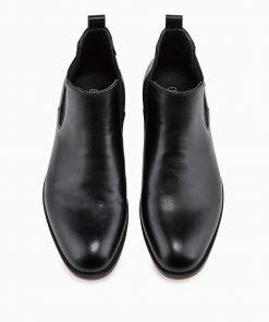 Juodi paaukštinti vyriski rudeniniai batai internetu pigiau T321 14195-5