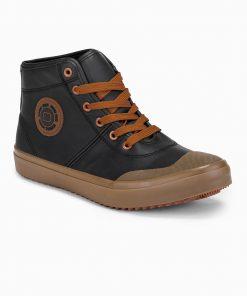 Juodi paaukštinti laisvalaikio batai vyrams internetu pigiau T329 14206-3