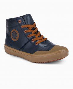 Tamsiai mėlyni paaukštinti laisvalaikio batai vyrams internetu pigiau T329 14207-1