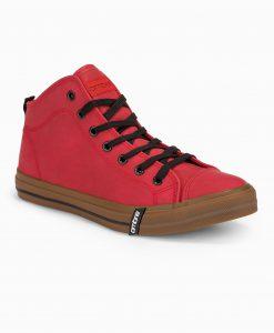 Raudoni paaukštinti laisvalaikio batai vyrams internetu pigiau T330 14212-3