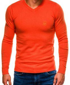 Oranžinis vyriškas džemperis internetu pigiau Ombre E74 5830-1