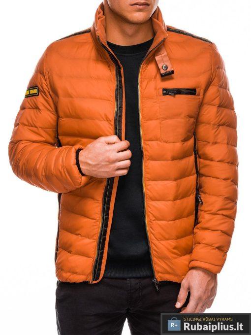 Dygsniuota oranžinė striukė vyrams internetu pigiau Mott C359 10699-4