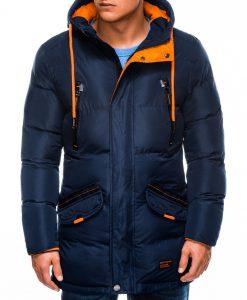 Tamsiai mėlyna žieminė vyriška striukė internetu pigiau Avanes C383 10561-5