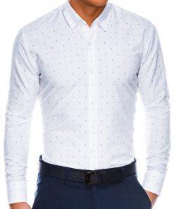 Stilingibalti vyriški marškiniai ilgomis rankovėmis internetu pigiau K465 13623-1
