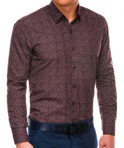 Stilingi marškiniai vyrams ilgomis rankovėmis internetu pigiau K466 13628-5