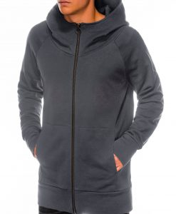 Pilkas vyriškas džemperis su gobtuvu internetu pigiau B1017 14189-6