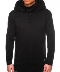 Juodas džemperis vyrams su gobtuvu internetu pigiau B1012 14191-2