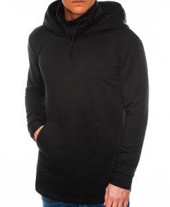 Juodas vyriškas džemperis su gobtuvu internetu pigiau B1012 14191-2