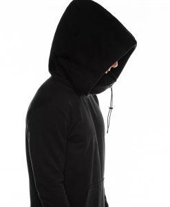 Juodas vyriskas dzemperis su lapisonu internetu pigiau B1012 14191-6