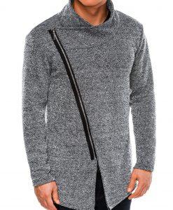 Juodas vyriškas megztinis internetu pigiau E174 14255-2