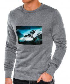 Pilkas vyriškas džemperis internetu pigiau B981 14258
