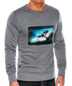 Pilkas džemperis vyrams internetu pigiau B981 14258-5
