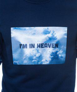 Tamsiai mėlynas džemperis vyrams internetu pigiau B984 14260-6