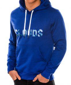 Mėlynas džemperis vyrams su gobtuvu internetu pigiau B990 14261-6