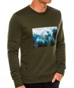 Chaki džemperis vyrams internetu pigiau B985 14262-1