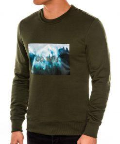 Chaki vyriškas džemperis internetu pigiau B985 14262