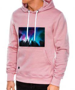 Rožinis džemperis vyrams su gobtuvu internetu pigiau B992 14265-4