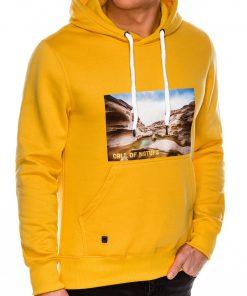 Geltonas vyriškas džemperis su gobtuvu internetu pigiau B993 14266-6