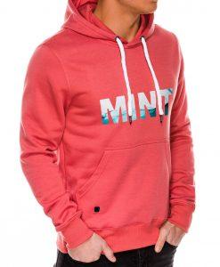 Koralinis vyriškas džemperis su gobtuvu internetu pigiau B994 14267-5