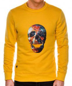 Geltonas vyriškas džemperis su kaukole internetu pigiau B987 14268-2