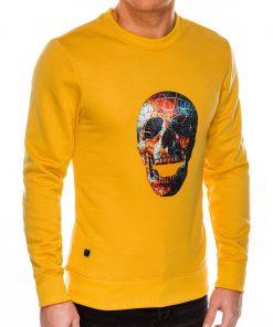 Geltonas dzemperis vyrams su kaukole internetu pigiau B987 14268-4