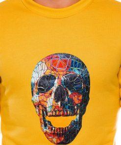 Geltonas vyriskas dzemperis su kaukole internetu pigiau B987 14268-6