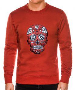 Raudonas vyriškas džemperis su kaukole internetu pigiau B989 14270-2