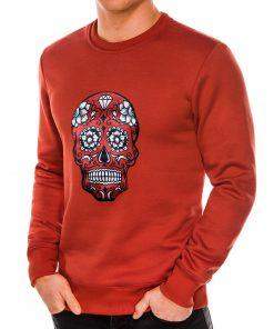 Raudonas džemperis vyrams su kaukole internetu pigiau B989 14270-3