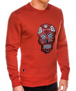 Raudonas dzemperis vyrams su kaukole internetu pigiau B989 14270-5