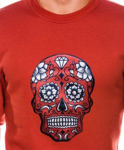 Raudonas vyriskas dzemperis su kaukole internetu pigiau B989 14270-6