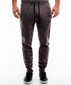 Tamsiai rudos spalvos sportinės kelnės vyrams internetu pigiau P867 14271-5