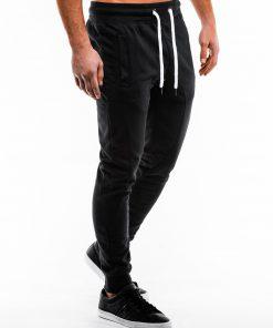 Juodos spalvos sportinės kelnės vyrams internetu pigiau P867 14273-3