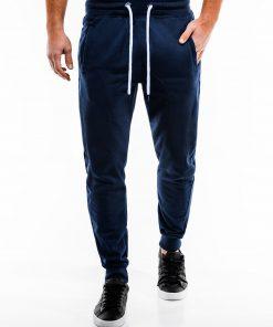 Tamsiai mėlynos spalvos sportinės kelnės vyrams internetu pigiau P867 14274-1