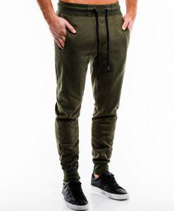 Chaki spalvos sportinės kelnės vyrams internetu pigiau P867 14275-3