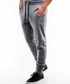 Pilkos spalvos sportinės kelnės vyrams internetu pigiau P867 14276-4