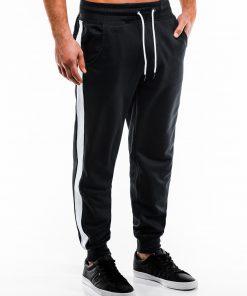 Juodos sportinės kelnės vyrams internetu pigiau P865 14278