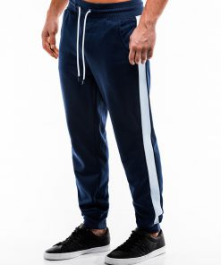 Tamsiai mėlynos sportinės kelnės vyrams internetu pigiau P865 14283