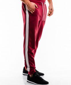 Raudonos sportinės kelnės vyrams internetu pigiau P865 14284