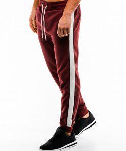 Tamsiai raudonos sportinės kelnės vyrams internetu pigiau P865 14286